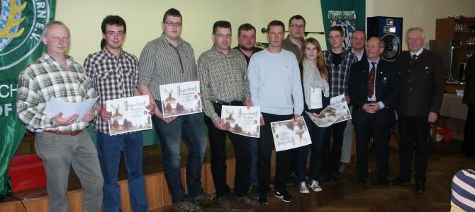 Jahreshauptversammlung 2013 der Jägerschaft Hof