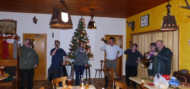 Weihnachtsfeier der Jagdhornbläsergruppe